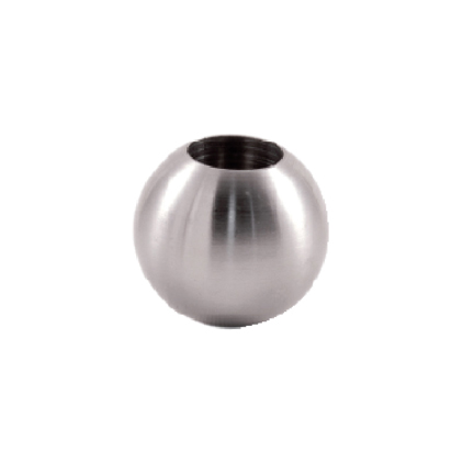 """Stainless Steel 1"""" Sphere with 1/2"""" diameter Hole"""