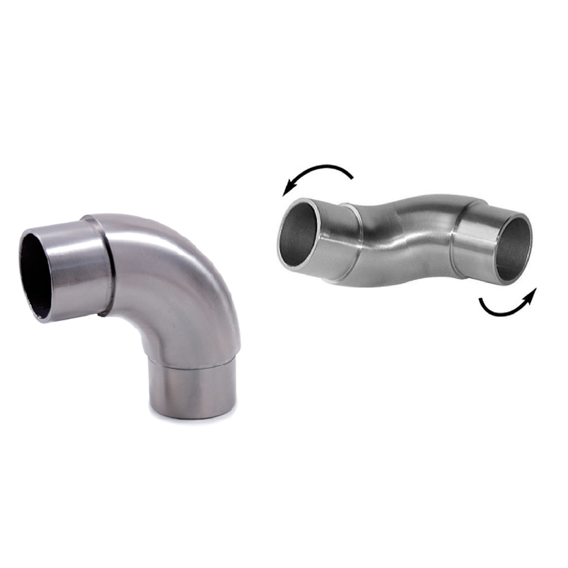 """Articulated Elbow for 1-2/3"""" dia. Tubing, 316 Satin Stainless Steel"""