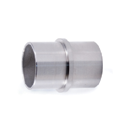 """Connector Fitting for 1-2/3"""" dia. Tubing, 316 Satin Stainless Steel"""