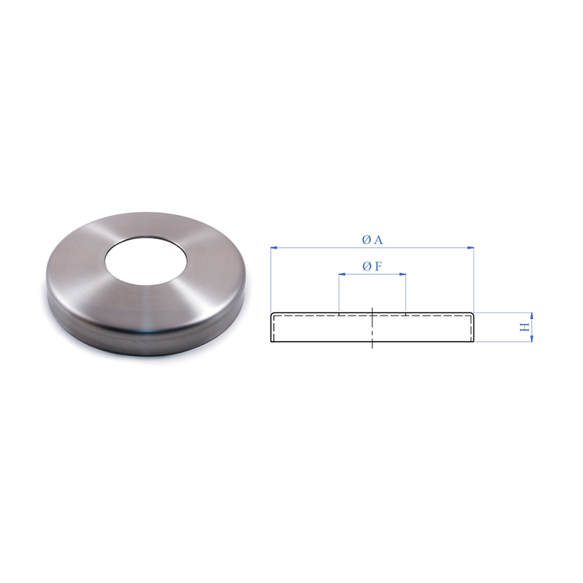 "Stainless Steel Flange Canopy for 1-2/3"" Tubing"