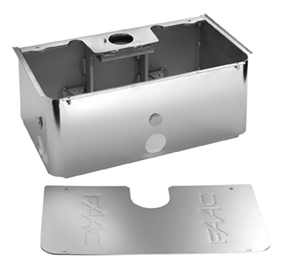 Support Box, Stainless Steel, for Model S800H Swing Gate Operator