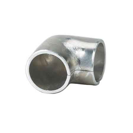 "Aluminum 90 degree Elbow with 1/8"" Internal Radius for 1-1/4"" and 1-1/2"" Sch. 40 Pipe"