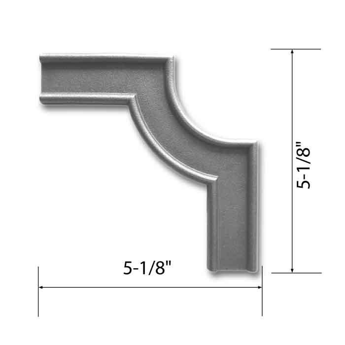 "1-3/16"" x 5/16"" Beveled Corner Banding, Steel, 5-1/8"" Tall, Single Faced"