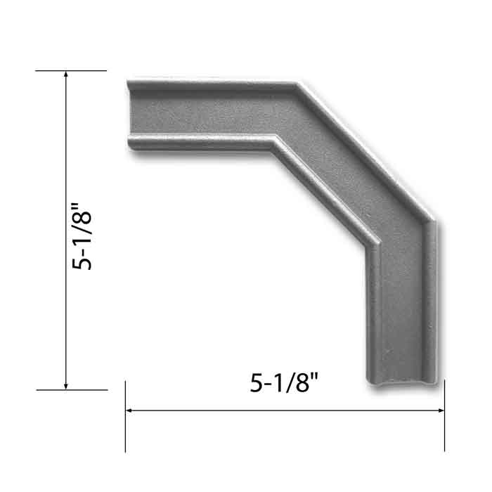 "1-3/16"" x 5/16"" Angled Corner Banding, Steel, 5-1/8"" Tall, Single Faced"