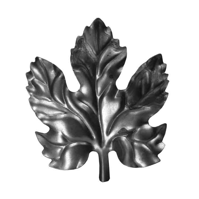 "3-3/4"" Wide Stamped Steel Grape Leaf, 4-1/8"" Tall"