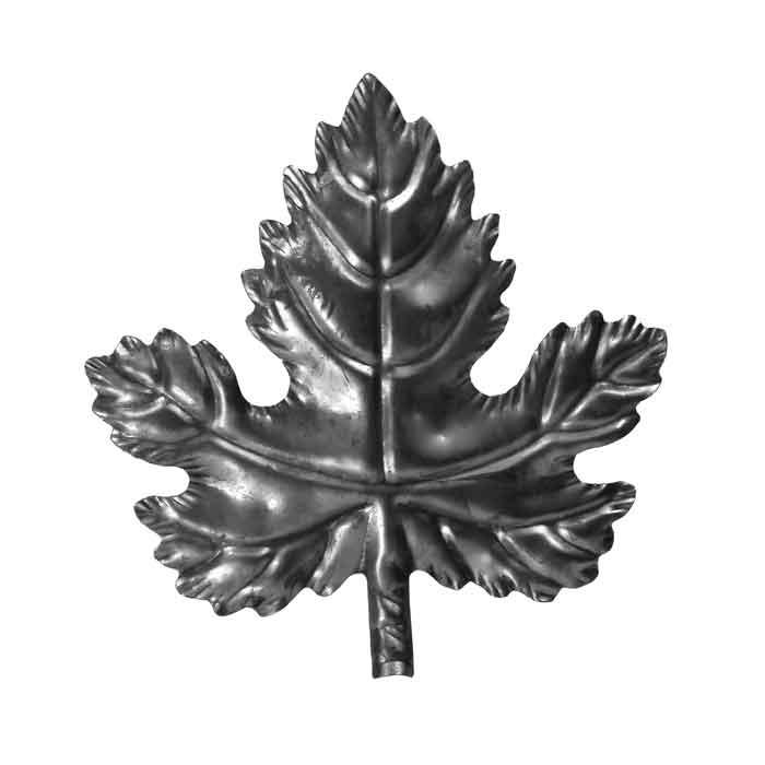 "7-1/2"" Wide Stamped Steel Grape Leaf, 7-5/8"" Tall"