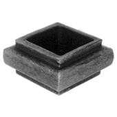 """Picket Collar for 1-1/4"""" sq., Steel, 1"""" Tall"""