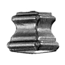 """Picket Collar for Sq. Bar, Steel, Undrilled, 2"""" Tall x 1-1/2"""" Wide"""