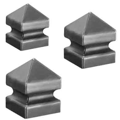 "Steel Pyramid Post Covers for 3-1/4"", 4"" and 6"" Square"