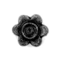"1"" dia. Steel Flower Rosette, 1/4"" Thick, Single Faced"