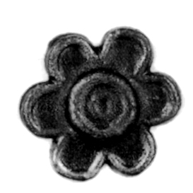 "1-3/4"" dia. Steel Flower Rosette, 1/4"" Thick, Single Faced"