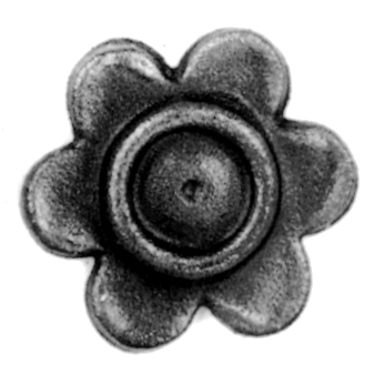 "2-9/16"" dia. Steel Flower Rosette, 1/4"" Thick, Single Faced"