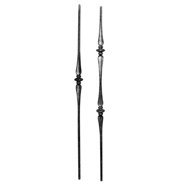 """1/2"""" Forged Steel Balusters with Collars and Spoon Shapes"""
