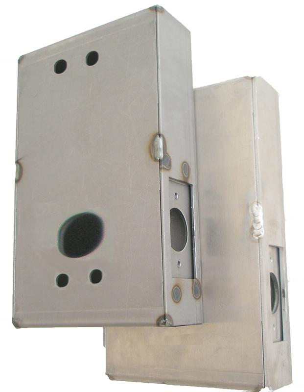 Gate Box, Steel, for 1150 Door Lock, Weld or Bolt On