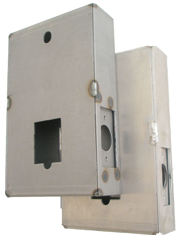 Gate Box, Aluminum, for 2835 Door Lock, Weld or Bolt On