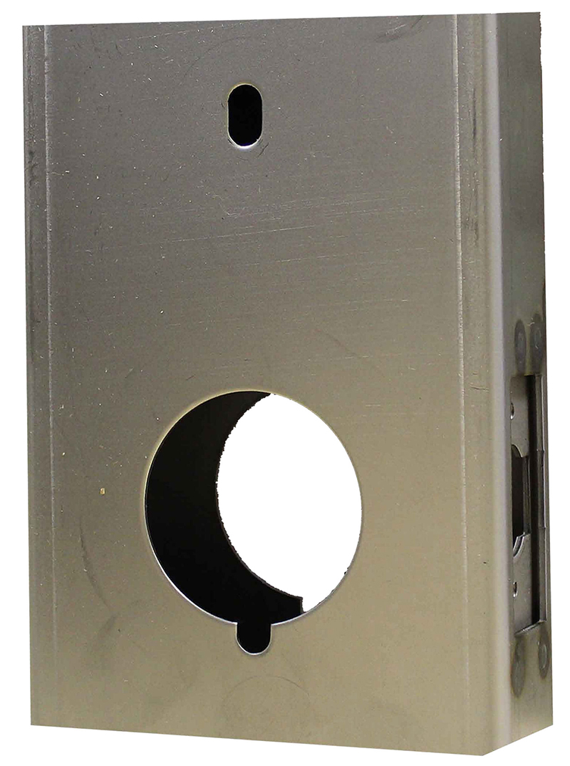 Gate Box, Steel, for M210 Door Lock, Weld or Bolt On