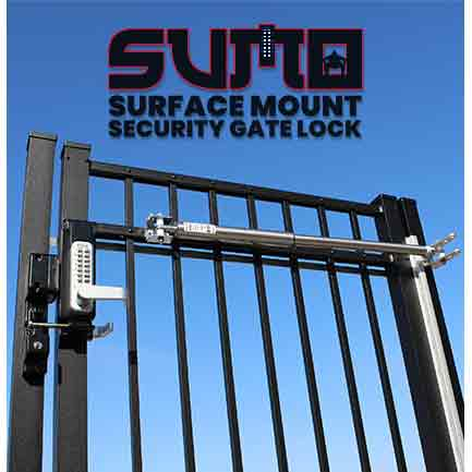 SUMO GL2 Surface Mount Gate Locks - Single or Double Combination