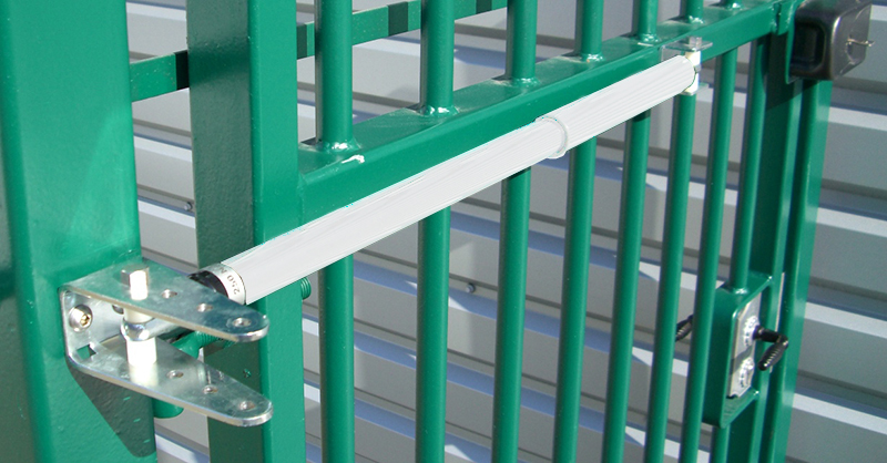 TB Series Hydraulic Medium Duty Adjustable Gate Closer for gates 75-175 lbs, White