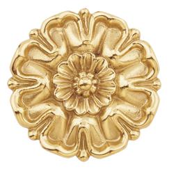 """Brass Flower Rosette, Polished, 2-13/16"""" Diameter"""