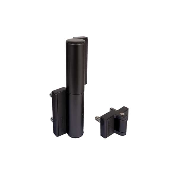 TIGER Compact Hydraulic Gate Hinge/Closer for Gates up to 165 lbs., Black