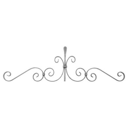 """1/2"""" x 1/4"""" Forged Steel Top Scroll Panel, 38-3/8"""" Wide"""
