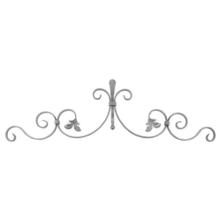 """1/2"""" x 1/4"""" Forged Steel Top Scroll Panel, 35-1/4"""" Wide"""