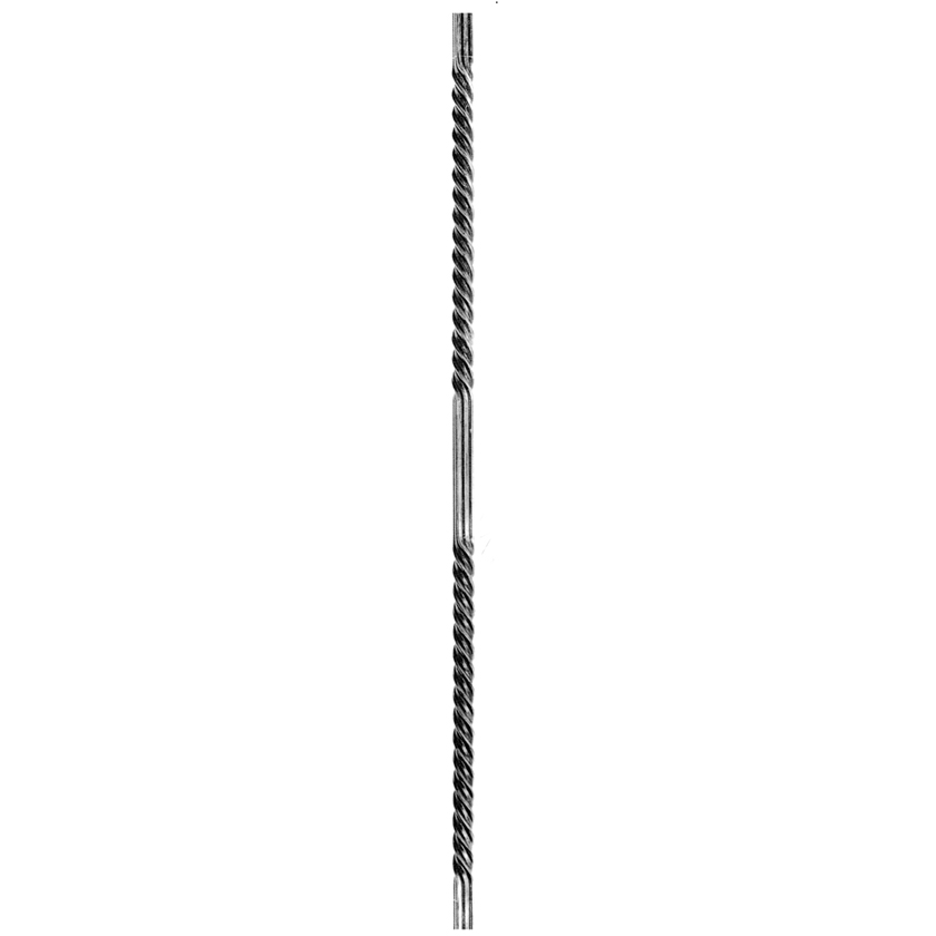"5/8"" sq. Grooved Steel Double Twisted Bar, 45"" Tall"