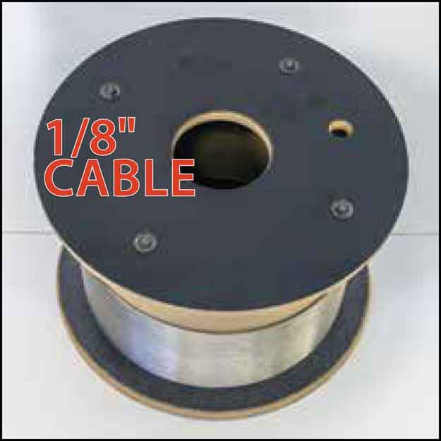"1/8"" Cable Rail by the foot or spool"