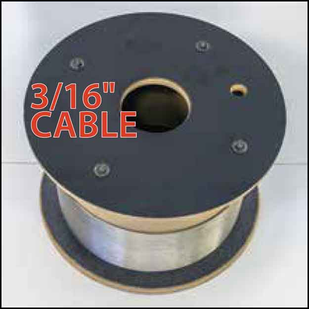 "3/16"" Cable Rail by the foot or spool"