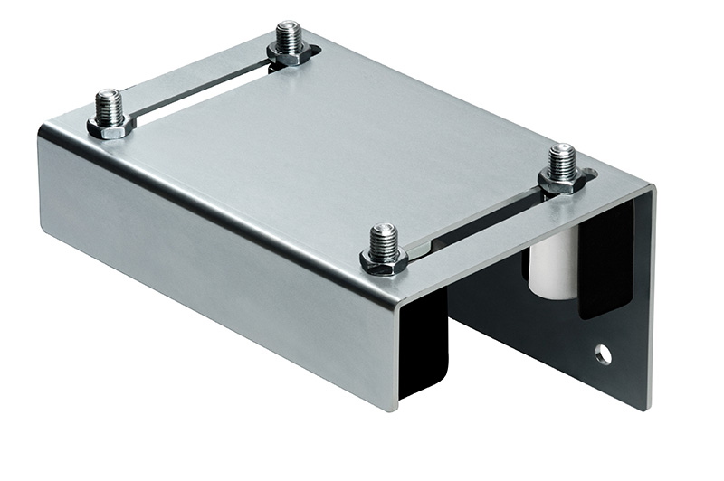 """Adjustable Guide Plate for up to 4-1/2"""", 4 Wheel w/covers, Galvanized"""