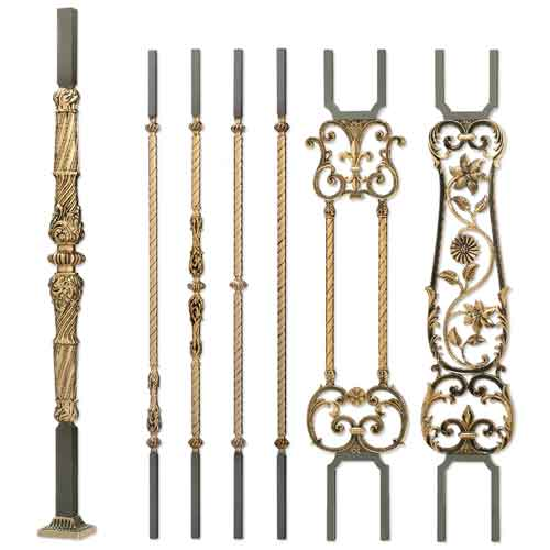 Grande Forge Versailles Series Patinated Posts and Balusters