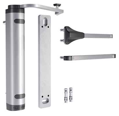 Verticlose-2 Wall Hydraulic Gate Closer for Wall Mounting for Gates up to 330 lbs., Silver