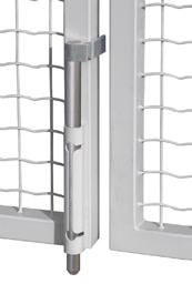 Self Locking, Silver Drop Bolt w/Galvanized Steel Rod