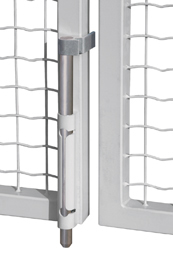 Self Locking, Black, Drop Bolt w/Galvanized Steel Rod