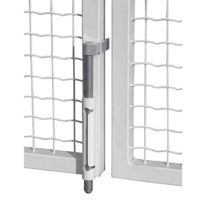 Drop Bars, Surface Mounted, for Metal Gates, Self Locking, Black or Silver