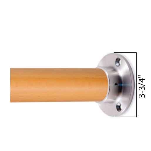 Woodinox Wall Flange, 304 Satin Stainless Steel
