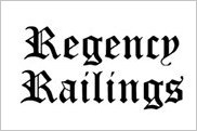 Regency Railings provides pre-fabricated decorative steel panels for stair or balcony railings.