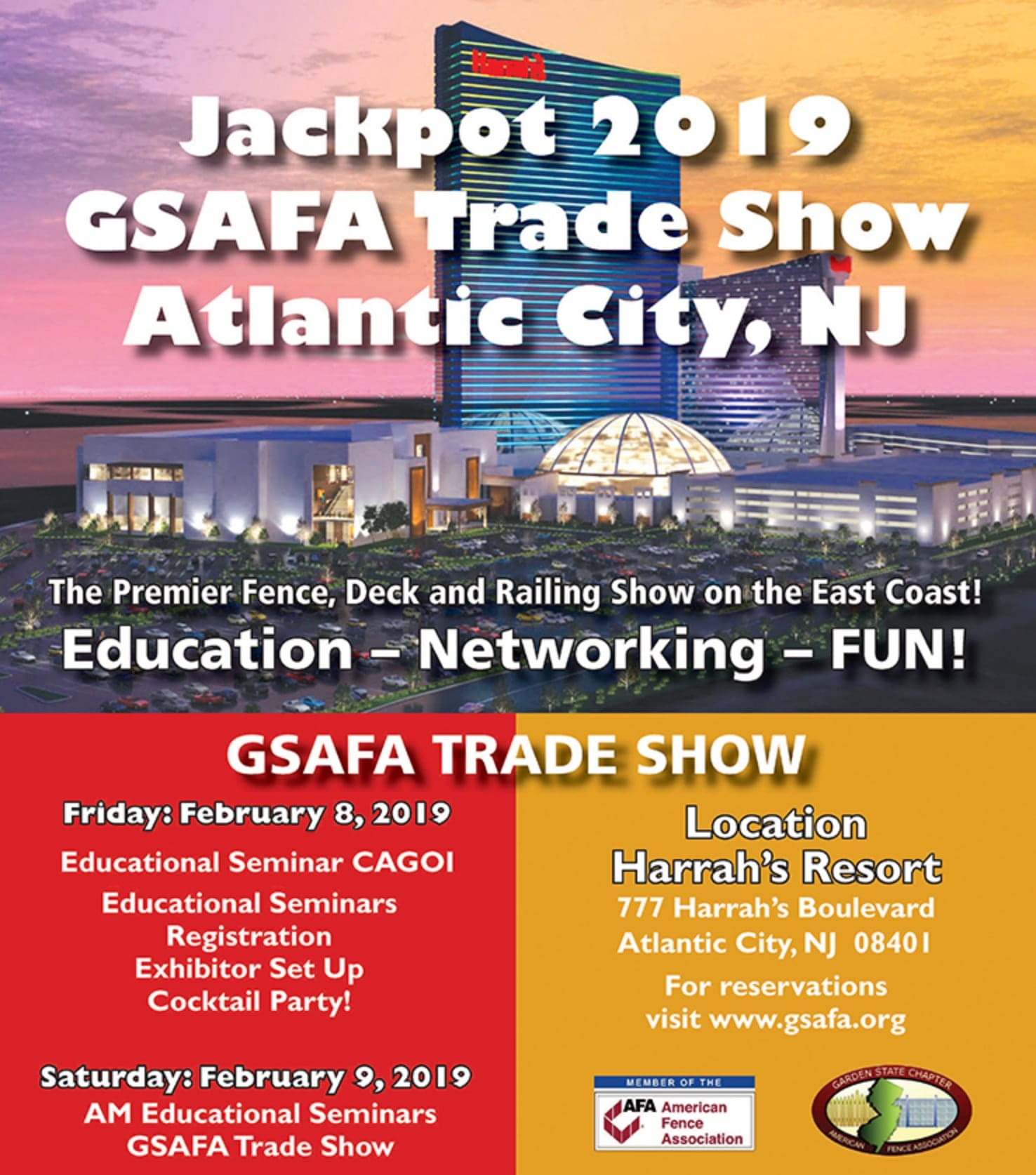 Invitation to the GSAFA Jackpot 2019 Trade Show