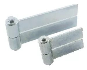 steel strap hinge for uphill gate installations