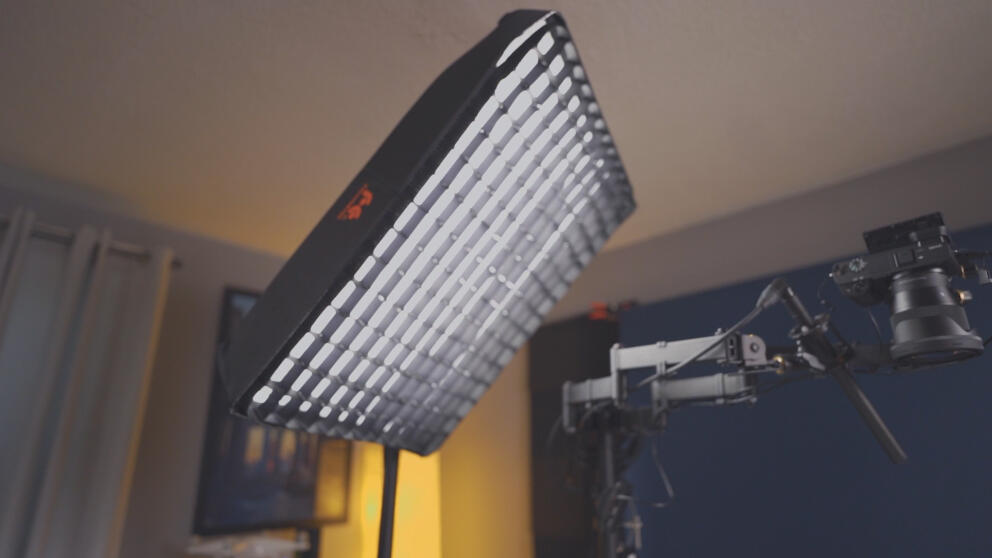 Falcon Eyes RX-18TDX II Review | Flexible LED Light WITH Softbox, Diffusion & Grid Banner Image