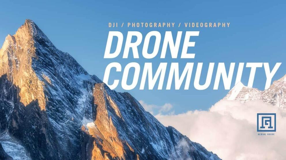 Our DJI Photography Drone Facebook Group! Let's grow our community! Banner Image