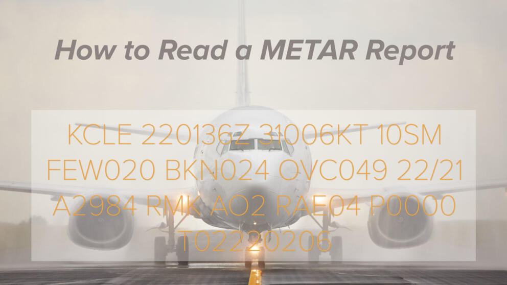 How to Read a METAR Weather Report Banner Image