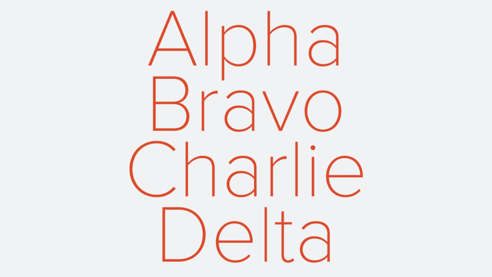 Learning the Nato Phonetic Alphabet: Alpha, Bravo, Charlie, Delta... Banner Image