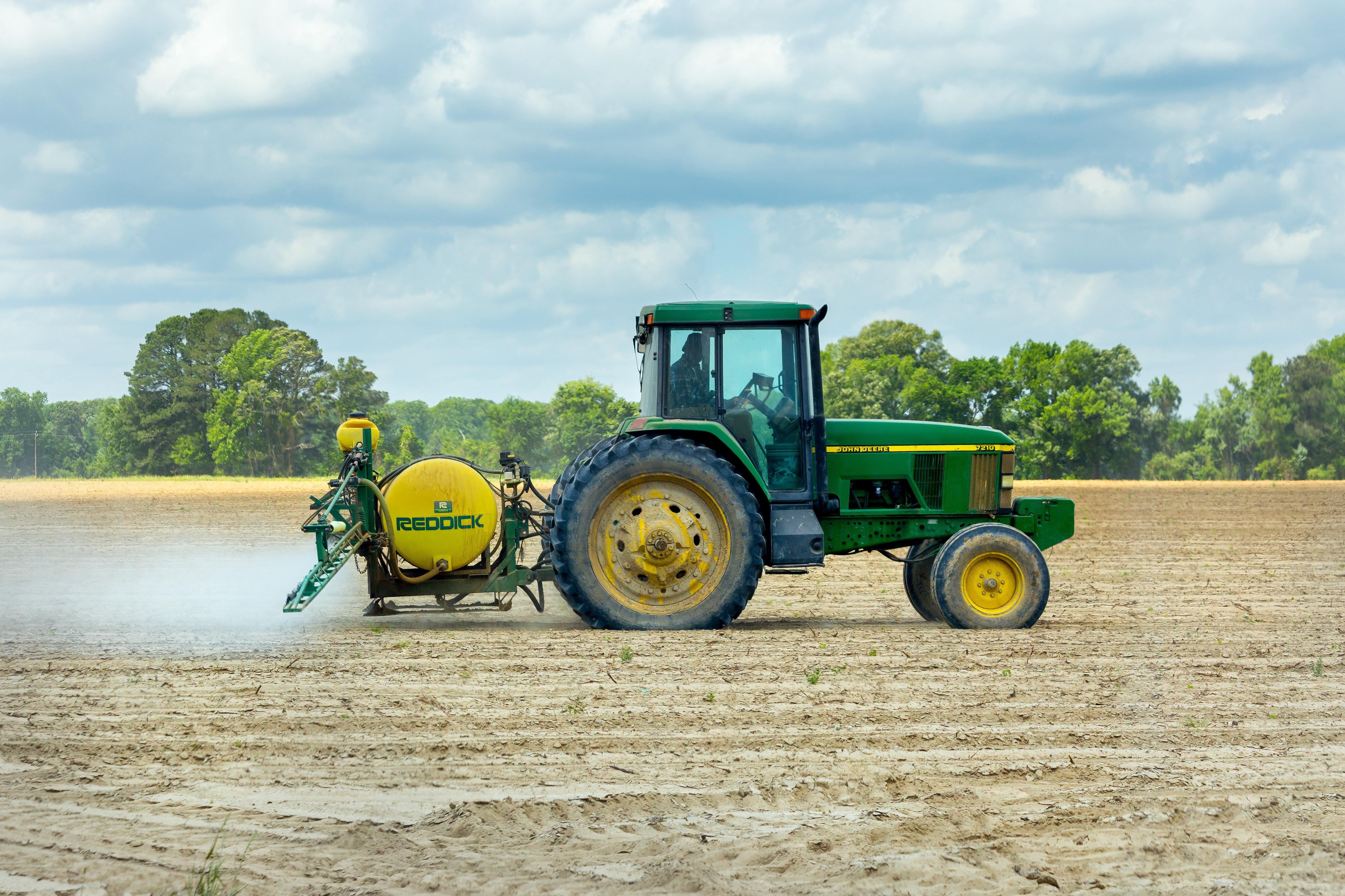 Spraying new crop