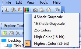 Remote control desktop plugin: change default video color
