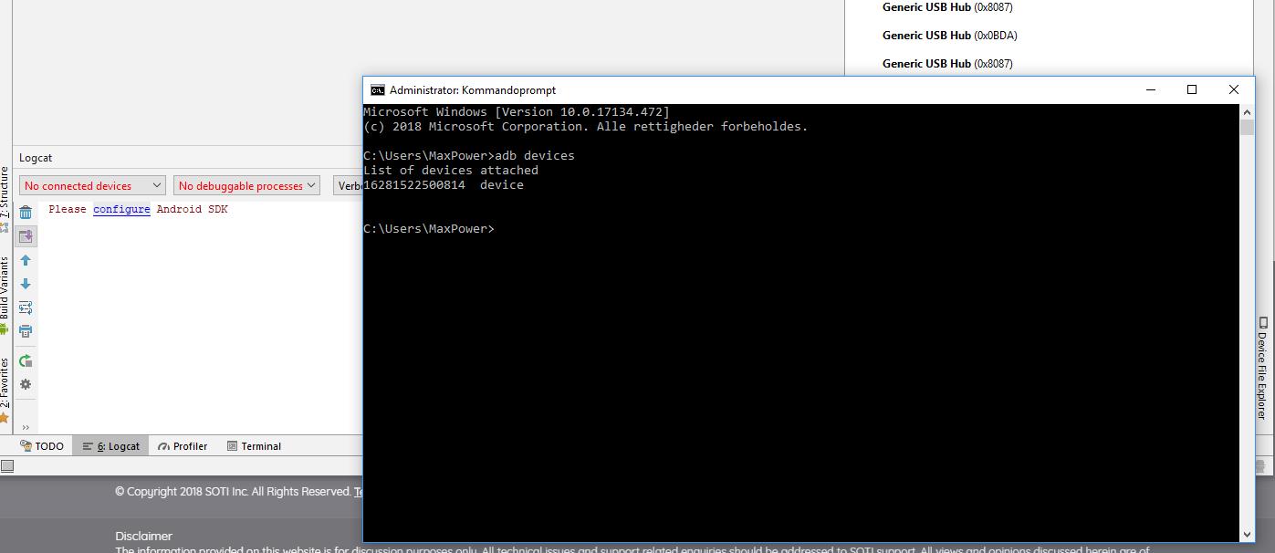 Zebra TC75 not detected via ADB interface in Android Studio