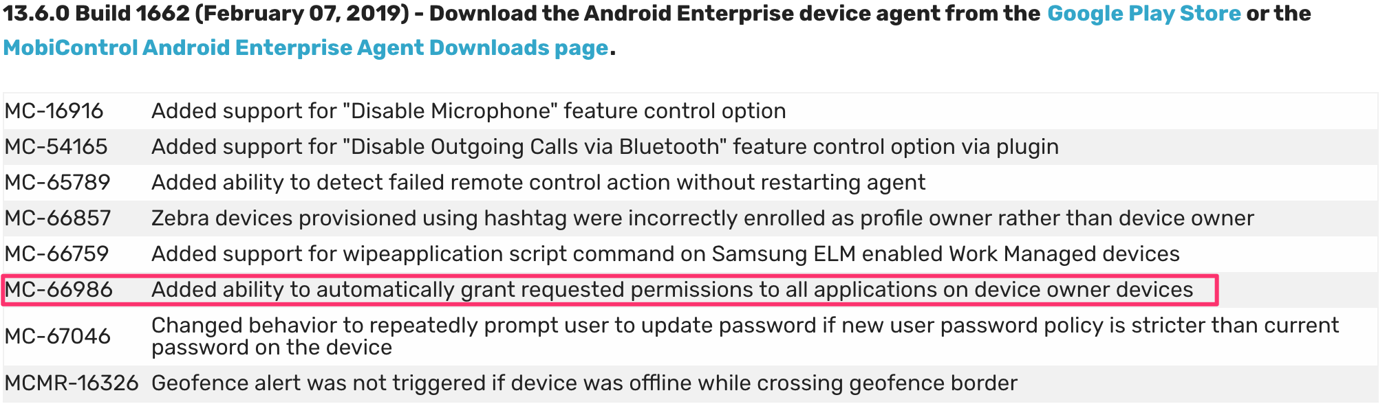 Permissions Issue with Android Enterprise Agent 13 6 0 Build