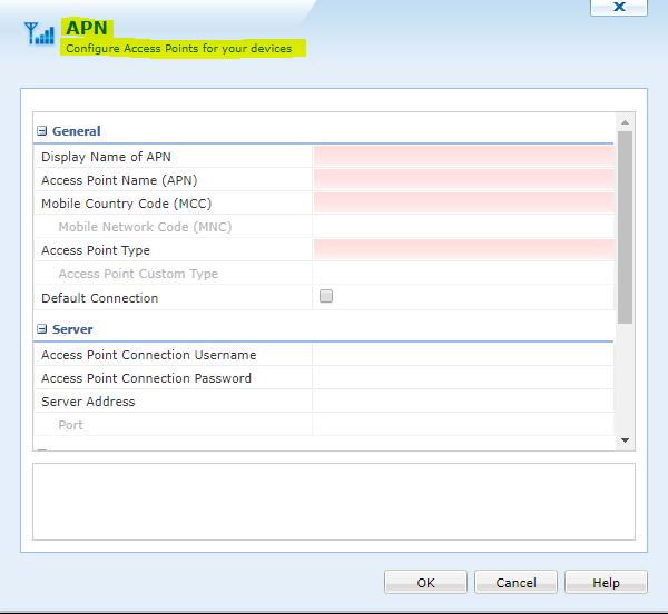 Script to change default APN