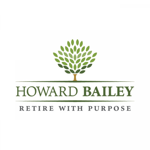 Howard bailey retire with purpose tagline history vector