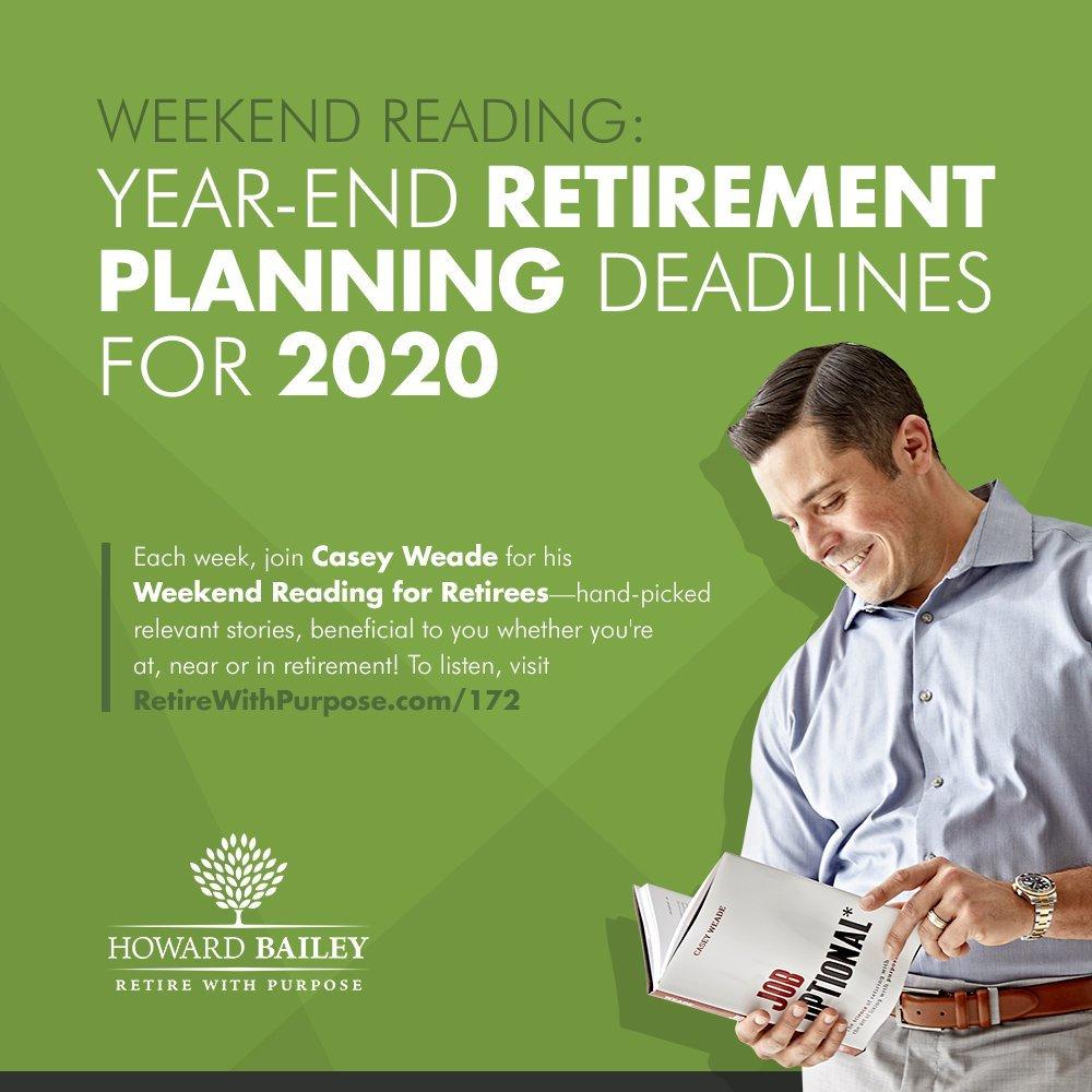 172 retirement planning deadlines